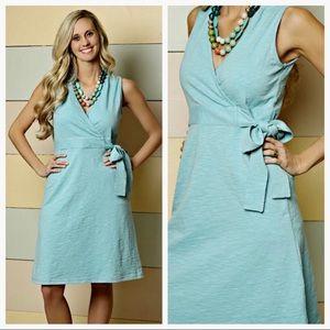 Matilda Jane Flower Shop Blue Wrap Dress Sz Small